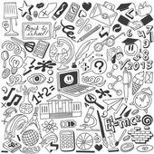 Istruzione - collezione doodles — Vettoriale Stock