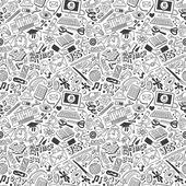 Vzdělání - bezešvé pozadí — Stock vektor