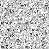 Web doodles fundo sem emenda — Vetorial Stock