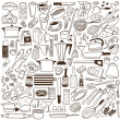 Kitchen tools - doodles collection — Stock Vector #27675057