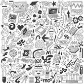 Ciencia - garabatos colección — Vector de stock