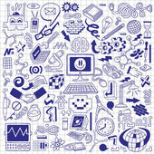 Science - doodles collection — Stock Vector