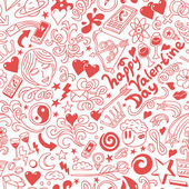 Love,Valentine Day - doodles collection — 图库矢量图片