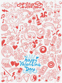 Love,Valentine Day - doodles collection — Stock Vector
