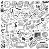 Business doodles collection — Stock Vector