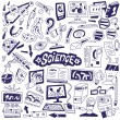 Vector de stock : Science - doodles