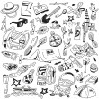 Stock Vector: Camping doodles