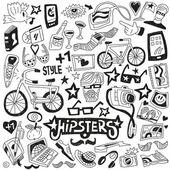 Hipsters - conjunto de garabatos — Vector de stock