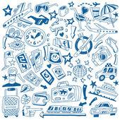 Travel doodles — Vector de stock