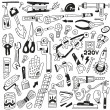 Work tools - doodles — Stock Vector