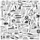 Work tools - doodles — Stock Vector