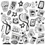 Photographie doodles — Vecteur