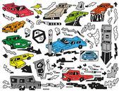 Automobily čmáranice — Stock vektor