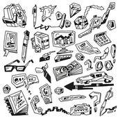 Affaires doodles — Vecteur