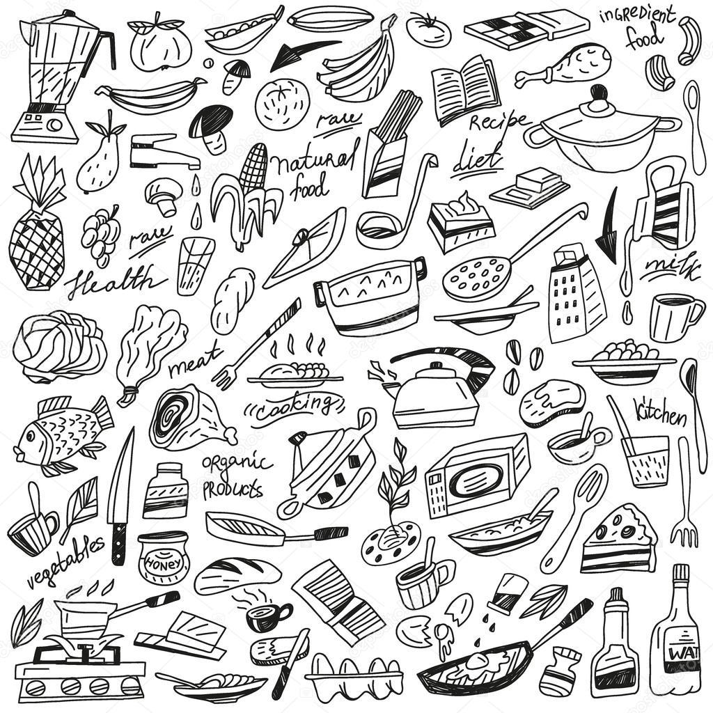 Culinária doodles — Vetor de Stock © topform #32547827 #676764 1024 1024