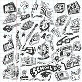 School - doodles — Stock Vector