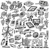 Technologie, écologie - icônes vectorielles — Vecteur