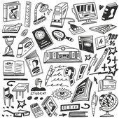 Eğitim, kitaplar - doodles — Stok Vektör