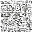 Web , mass media - doodles set — Stock Vector