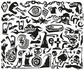 Halloween monsters - doodles — Stock Vector