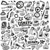 Kosmetische doodles — Stockvektor