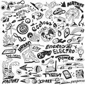 Ecology - doodles — Stock Vector