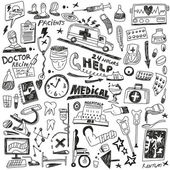 Medicine - doodles set — Stock Vector