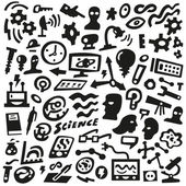 Thinking, Science - doodles set — Stock Vector