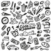 Good morning doodles - Illustration — Stock Vector