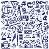 Educação escolar - doodles — Vetorial Stock