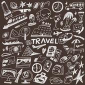Travel - doodles set — Stock Vector