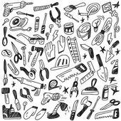 Working tools - doodles — Stock Vector