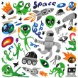 Space icons - vector illustration — Stock Vector #37541585
