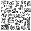 Photography Doodles — Stock Vector #37542373