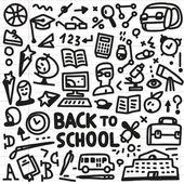 School - doodles set — Stock Vector