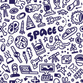 Space - seamless background — Stock Vector