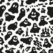 Ghosts - seamless background — Stock Vector