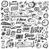 Sleep time - doodles set — Stock Vector
