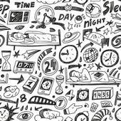 Sleep time - seamless backgound — Stock Vector