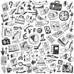 Business - big doodles set — Stock Vector #43773067