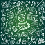 School education - doodles set — Stock Vector