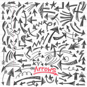 Arrows - doodles set — Stock Vector