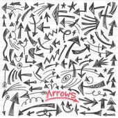 Arrows - doodles set — Stockvektor
