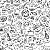 Matlagning - sömlös bakgrund — Stockvektor