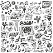 Cinema doodles — Vector de stock
