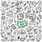 School education - doodles set — Vettoriale Stock