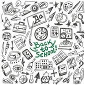 School education - doodles set — Stockvektor