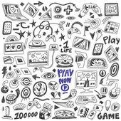 Computers games - doodles set vector — Stock Vector