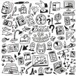 School education - doodles set — Stock Vector