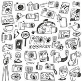 Photography Doodles — Stock Vector